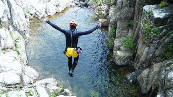 canyoning lungo le Gole della Sila